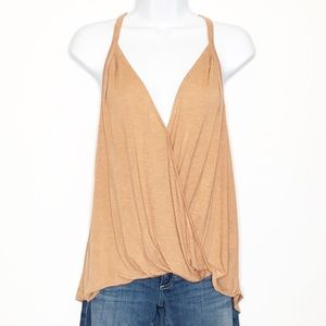 LUSH Hi-Low Faux Wrap Tank Top Medium NWT